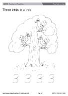 Three birds in a tree