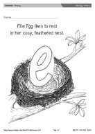 Ellie Egg - Letter E