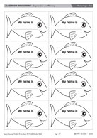 Name tags - Fish