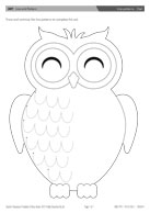 Line patterns - Owl