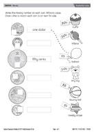 adding coins worksheets
