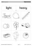 heavy and light worksheet for preschool. Black Bedroom Furniture Sets. Home Design Ideas