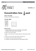 Concentration time - 1/2 past