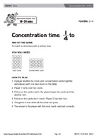 Concentration time - 1/4 to