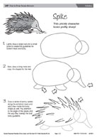 echidna mc0001 3 6 2 games and activities none games and activities easy drawing step by step drawing following instructions echidna facts