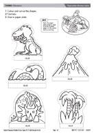 Paper plate dinosaur scene