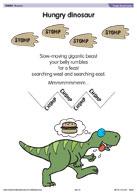 Hungry dinosaur poem