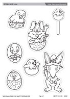 Easter clipart/popstick puppets