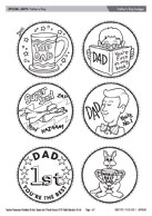 Father's Day badges/medals